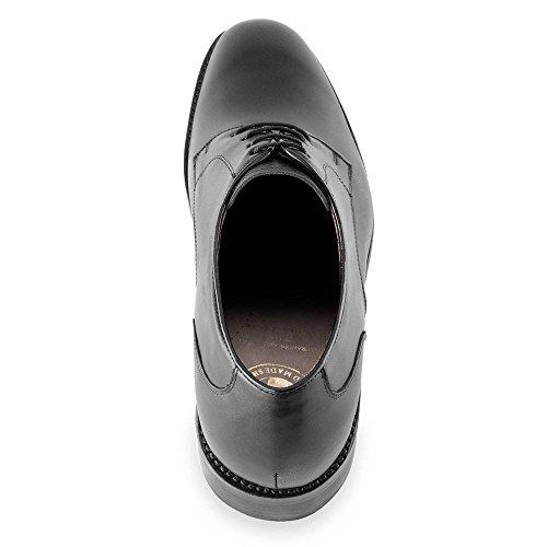 Masaltos Scarpe Da Uomo Che Aumentano In Modo Invisibile Le Dimensioni Del Corpo Fino A 7 Cm. Scarpe Da Uomo Con Tacco Nascosto. Modello Bonn Nero