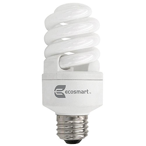 (EcoSmart 60W Equivalent Daylight Spiral Dimmable CFL Light Bulb (E)* (2-Pack))