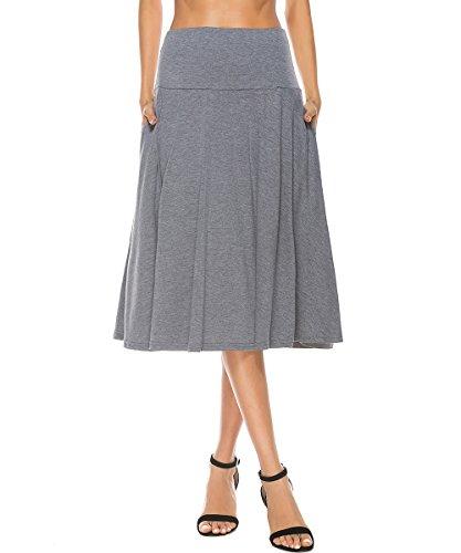 Gray Stretch Skirt - 7