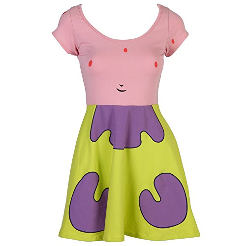 Spongebob Squarepants I Am Patrick Starr Junior Costume Skate Dress (Large)