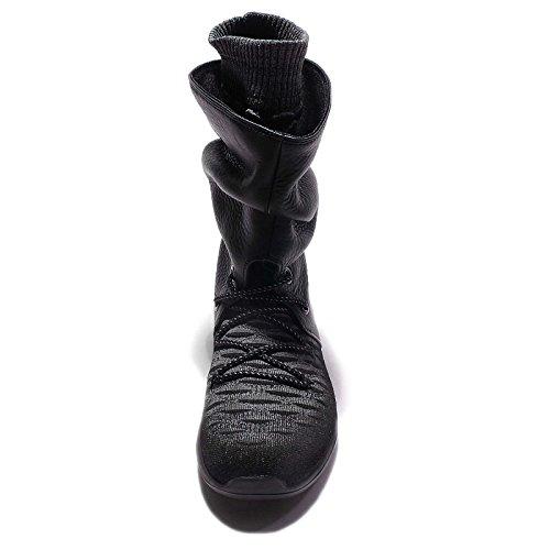Nike Womens Roshe Due Scarpe Da Ginnastica Flyknit Hi 861708 Stivali Da Ginnastica Nero / Nero-grigio Scuro