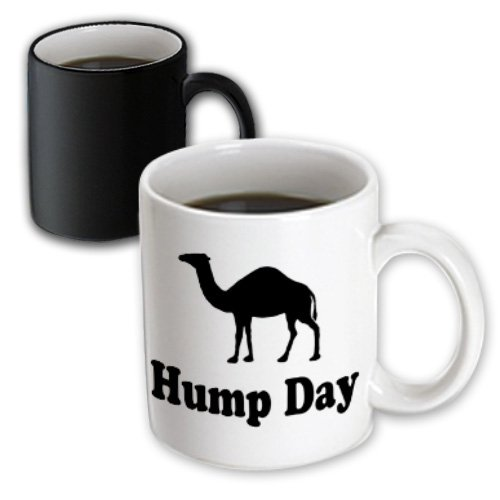 3dRose Hump Day Camel Wednesday Magic Transforming Mug, 11-Ounce