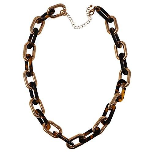 Acetate Gold Tone Plastic Chain Link 21