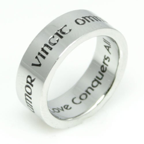 Poesy Ring - Amor Vincit Omnia - Love Conquers All Ring - Promise Ring (Poesy Promise Rings)
