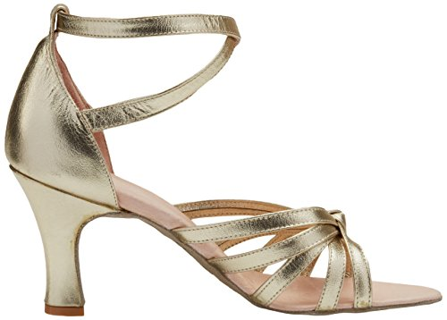 522 Dorado en color Mujer de Dorado para Tacón Zapatos Miguelito Piel BATO1qT