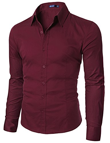 Doublju mens wrinkle free dress shirts import it all for Wrinkle free dress shirts amazon