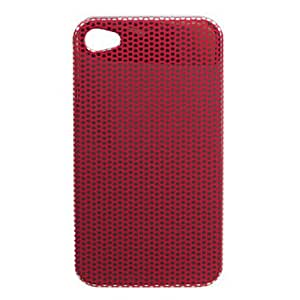 SJTStylish Spot Pattern Hard Case for iPhone4 (Red)