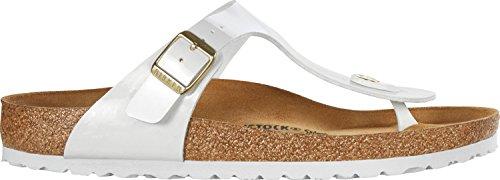 (Birkenstock 1005300 Gizeh Sandals White 39 Black)