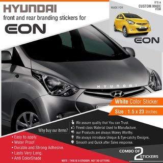 Arwy Car Sticker Hyundai Stickers For Hyundai Eon White Reflective