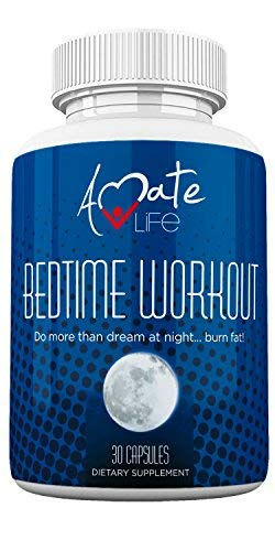 Bedtime Nocturnal Fat Burner - Nighttime Metabolism Booster- Burn Fat at Night While You Sleep- Amino Acids Source - Stimulates Metabolism While Sleeping - for Men & Women Made in USA by Amate Life
