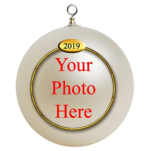 Custom Personalized Photo Unbreakable 2019 Christmas Ornament Gift, Baby First Ornament,Our First Ornament - Personalized Balls Christmas