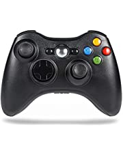 Sefitopher Xbox 360 Wireless Controller for Xbox360/360 Slim /360 Elite Console/PC/laptop/steam with Dual Vibration 、Audio and Ergonomic 2.4GHZ Wireless Gamepad