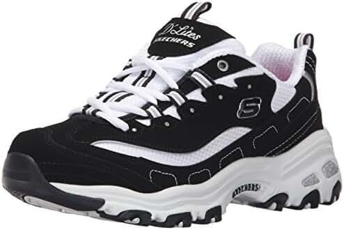 Skechers Sport Women's D'Lites Memory Foam Lace-up Sneaker