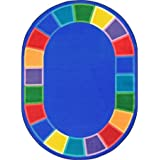 "Joy Carpet Kid Essentials - Early Childhood Color Tones Multi Multi 5'4"" x 7'8"" Oval Area Rugs"