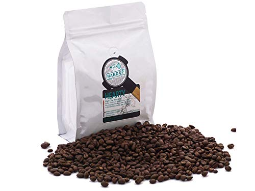 Hand Up Coffee Roastery, Thailand Single Origin Whole Bean Fresh Roasted Coffee, Full-city Roasted Coffee Beans, Espresso/Pour Over, Hot/Iced Coffee, Reseable Foil Ziplock Bag,12 Ounce Bag (340 G)