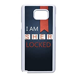 Samsung Galaxy Note 5 Cell Phone Case White Sherlock Plastic Durable Cover Cases swxc5072671