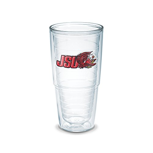 Tervis 1090655 Jacksonville State University Emblem Individually Boxed Tumbler, 24 oz, Clear