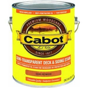 Cabot Deck and Siding Stain Redwood Semi Transparent 1 Gl