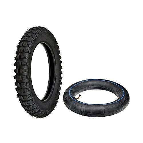 Monster Motion 2.5-10 Tire & Tube Set for Baja, Honda, Minimoto, Motovox, & Razor Dirt Bikes