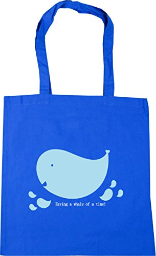 Bag x38cm litres Beach Shopping whale Cornflower 42cm time Having a Blue Gym Tote 10 a HippoWarehouse of W764wvU0nz