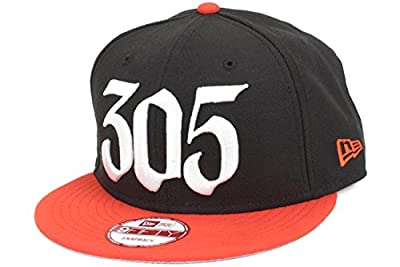 New Era Miami Marlins 305 Area Code Custom Side Patch Snapback