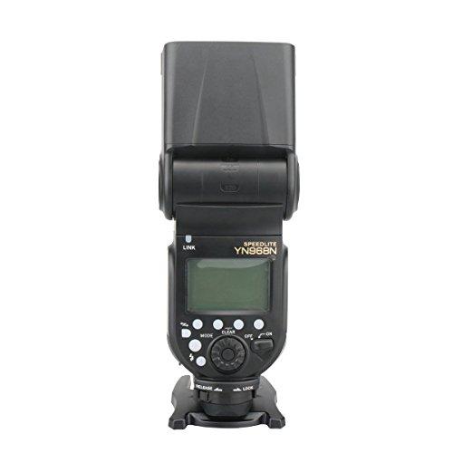 YONGNUO YN968N Wireless Flash Speedlite High-speed Sync TTL 1/8000 for Nikon with WINGONEER Diffuser