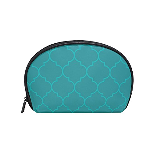 - Dragon Sword Moroccan Aqua Olive Color Cosmetic Bag Travel Handy Organizer Pouch Makeup Bags Purse for Women Girls