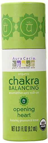 Aura Heart - Aura Cacia Organic Chakra Balancing Roll-On, Opening Heart, 0.31 fluid ounce