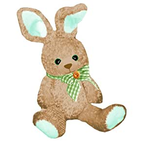"First & Main Easter  Stuffed Gingham Brown Sitting Position Bunny 10"" Plush"