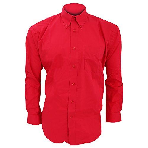 Uomo Kustom Manica Rosso Camicia Kit Lunga nC06qZC 833a9df91c1