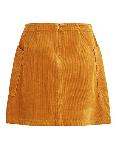 Mustard Hw Vila Skirt Vilusi Short Jupe Femme waqxvOPTx6