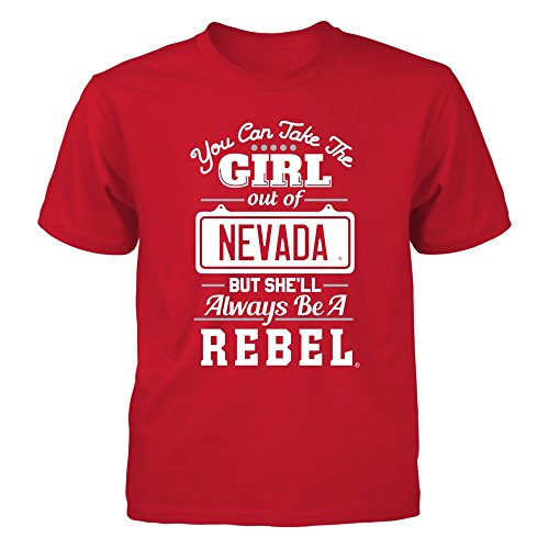 FanPrint UNLV Rebels T-Shirt - Take The Girl Out But She'll Always Be - Youth Tee/Red/S ()