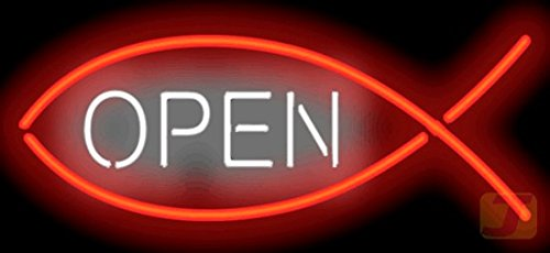 Christian Fish Open Neon Sign by Jantec Sign Group