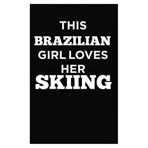 girl skiing poster