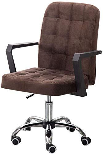 Sillon de tela ajustable para computadora de escritorio, silla giratoria con patas de acero para el hogar, oficina, estudio, sala de estudio