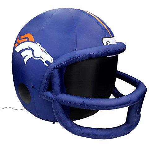 NFL Denver Broncos Team Inflatable Lawn Helmet, Navy, One Size ()