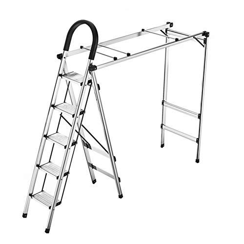 CAIJUN Folding Ladder Drying Rack Aluminum Alloy Portable Mu