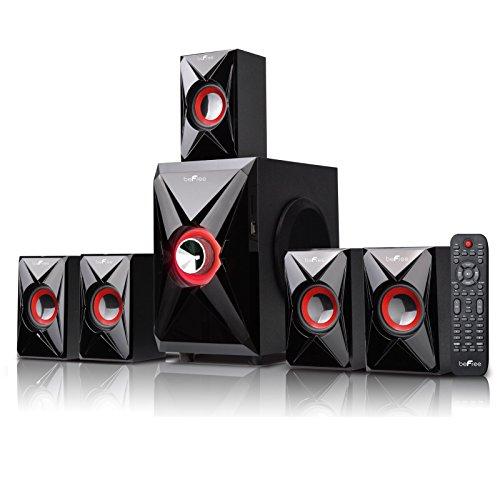 beFree Sound 5.1-Channel Bluetooth Speaker System Black/Orange 91592795M