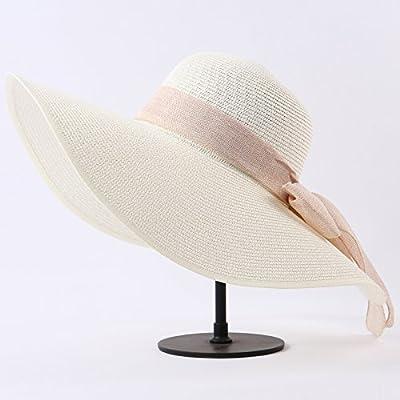 La plage Chapeaux Chapeaux mode Sport et loisirs Parasol Sun Hat Tide Femme Piscine extérieure d''Ombre Soleil Hat Tide, réglable, Crème