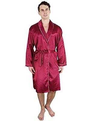 Super Silk Mens Long Lounge Pajama Robe / Bathrobe