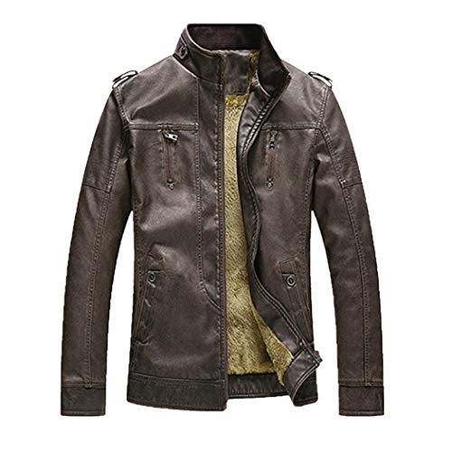 Dragon Striped Beanie - XOWRTE Men's Cotton Plus Size Thickening Winter Jacket Outwear Coat