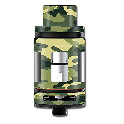 Skin Decal Vinyl Wrap for Smok Mini TFV8 Big Baby Beast Tank Vape Mod stickers skins cover / Green Camo original Camouflage