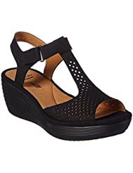 CLARKS Collection Womens Reedly Waylin Wedge Sandal, 8