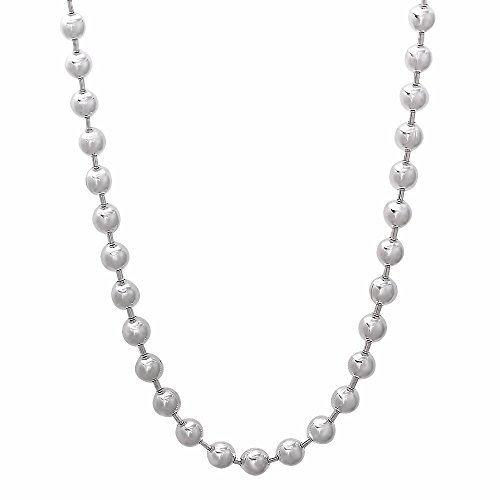 4mm Solid 925 Sterling Silver Pallini Style Bead Italian Crafted Chain, 30