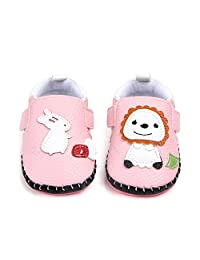 BEYOLO Infant Toddler Moccasins Baby Crib Shoes Soft Leather Sole Prewalker First Walkers Shoes Trainers for Boys Girls