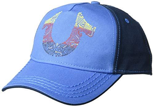 True Religion Men's Digital Horseshoe Ball Cap, Blue, OSFA