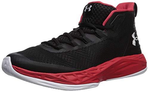 save off 93da3 7fa28 Under Armour Men s Jet Mid Basketball Shoe, Black (004) Red, 15 M US