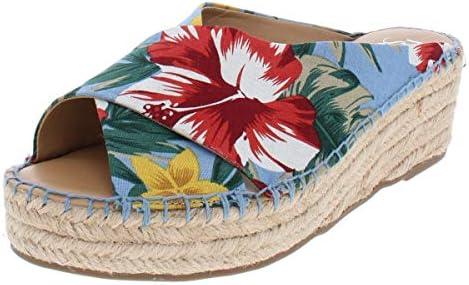 52d89b36768 Franco Sarto Women's Polina Wedge Sandal, Light Blue, 9.5 M US ...