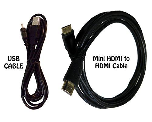 HDMI Cable for Canon EOS SL2 DSLR Camera + USB Cable - High-Speed 4K Mini HDMI to HDMI Cable for Canon EOS SL2 DSLR Camera, 6 Feet. by Excelshoots