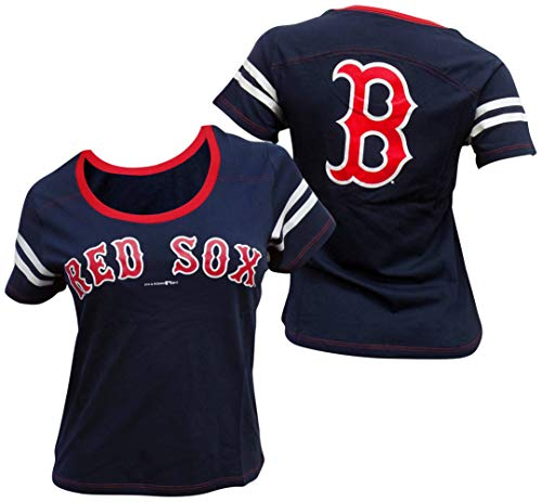 - 5th & Ocean Boston Red Sox Women's Baby Jersey S/S Scoop Neck Small